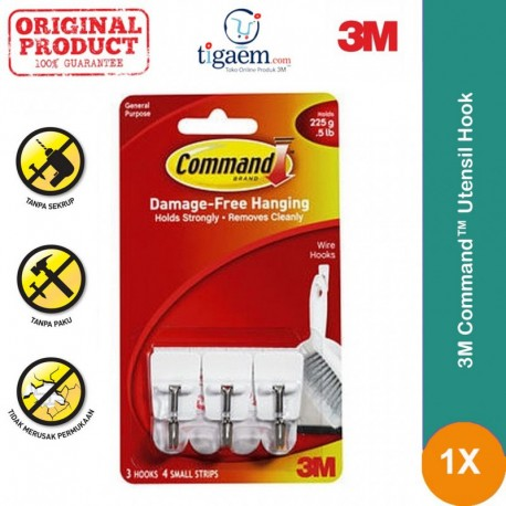 Command Utensil Hook 36 Packs/Ctn