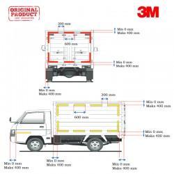 3M™ Scotchlite Sticker Reflective Diamond Grade 983-71 - Kuning - [55mm x 50m] - 1 Roll