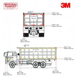 3M™ Scotchlite Sticker Reflective Pemantul Cahaya Mobil Tronton Wing Box 12 Ban - Diamond Grade 983 (Kuning 69, Merah 16)