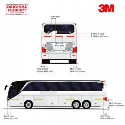 3M™ Scotchlite Sticker Reflective Pemantul Cahaya Bus Maxi - Diamond Grade 983 (Kuning 8, Merah 3)