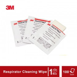 3M™ Respirator Cleaning Wipe 504/07065(AAD), Alcohol-Free, Individually Packaged