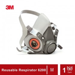3M Half Facepiece Reusable Respirator 6200 (size : Medium)