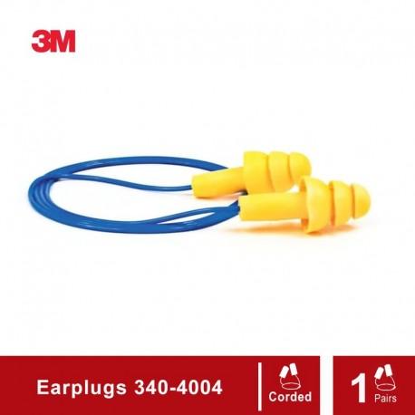 3M 340-4004 EAR Ultrafit Corded Earplugs - Pelindung Telinga