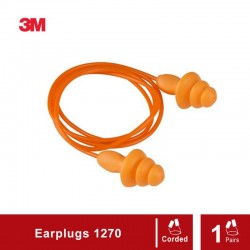 3M Reusable Ear Plugs Corded 1270 (per pair) - Pelindung Telinga dari Kebisingan di Jual dg Harga Murah