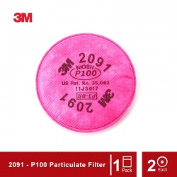 3M Particulate Filter 2091, P100 Respiratory Protection