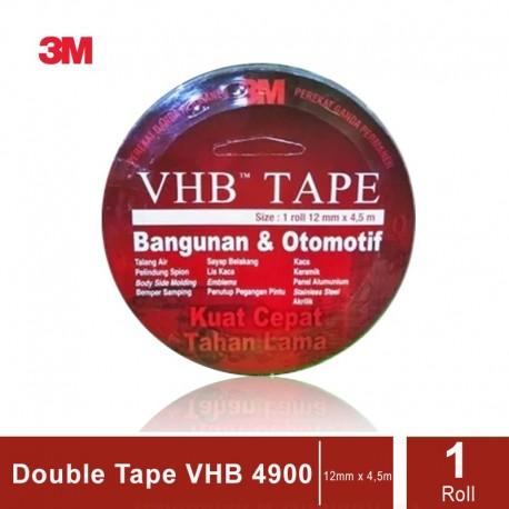 3M VHB Automotive Tape 4900, tebal: 1.1 mm, size: 12 mm x 4.5 m (Double Tape Mobil)