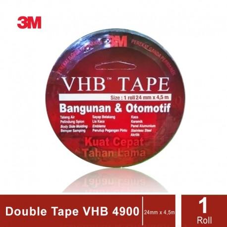 3M VHB Automotive Tape 4900, tebal: 1.1 mm, size: 24 mm x 4.5 m (Double Tape Mobil)