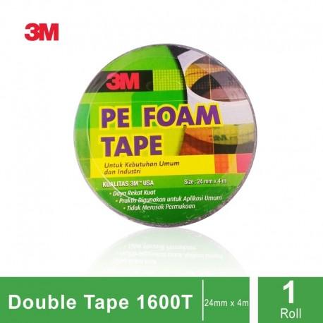 3M 1600T Double Coated PE Foam Tape (Double Tape), tebal: 1.0 mm, size: 23 mm x 4.5 m