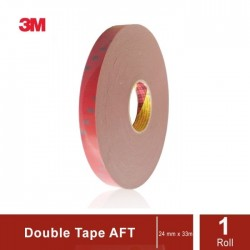 3M AFT Acrylic Foam Tape 5666, tebal: 1.1 mm, size: 24 mm x 33 m (Double Tape Mobil)