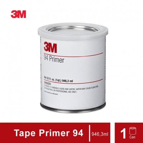 3M Tape Primer 94 (Double Tape) - 1 liter Can - Meningkatkan Kelekatan pada Bahan Seperti Plastik, Karet, Painted Metal