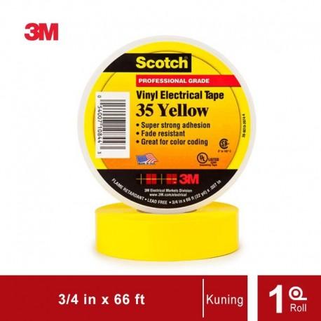 Isolasi Listrik 3M Scotch 35 Vinyl Electrical - Kuning - (19mm x 20m)