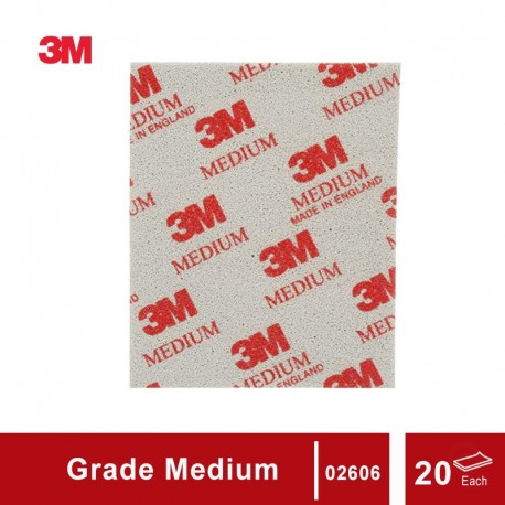 3M Sanding Sponge grade Medium, size: 4 1/2 in X 5 1/2 in, 20 sponges/box