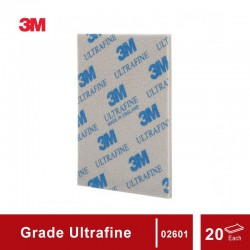 3M Sanding Sponge grade Ultrafine, size: 4 1/2 in X 5 1/2 in, 20 sponges/box