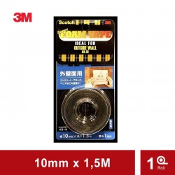 Super Strong Outside Wall (KB-10) (eceran) - Harga Double Tape 3M Murah Paling Kuat u/ Permukaan (Balok, Semen, Beton)