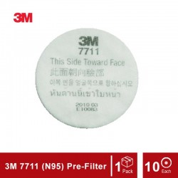 3M 7711 Pre-Filter For Mask 3100 / 3200 Series