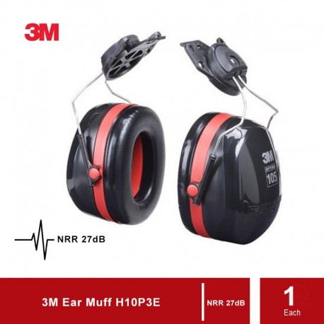 3M H10P3E Cap-Mounted Ear Muff, 27dB
