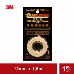 Super Strong Premier Gold (KPG-12) (eceran) - Double Tape Merk 3M asli Kuat u/ (Logam, Kayu, Bahan Plastik) Jual Harga Murah