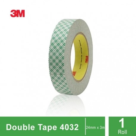 3M 4032 Mounting Tape / Double Coated Foam Tape, tebal: 0.8mm, size: 24 mm x 5 m