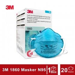 3M N95 1860 Masker Medis Surgical Mask - 1 Box [20 Masker]
