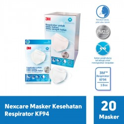 3M Nexcare Earloop Mask (Masker), 3 pieces in a plastic bag
