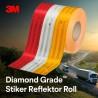 3M Diamond Grade Conspicuity Stiker Reflektor Roll - Putih