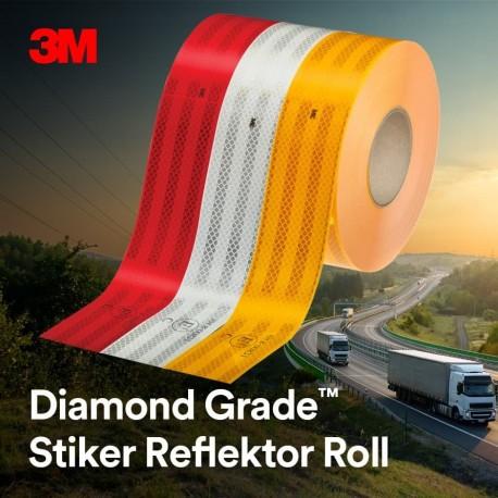 3M Diamond Grade Conspicuity Stiker Reflektor Roll - Merah