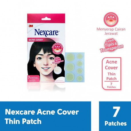 3M Nexcare Acne Cover / Plester Jerawat Thin Patch ( isi 7 patch )