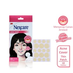 3M Nexcare Acne Cover / Plester Jerawat Thin Patch ( isi 18 patch )