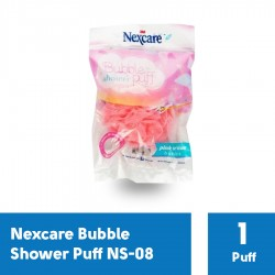 Spons Mandi Bubble Shower Puff Bath Sponge Lembut Nexcare NS-08