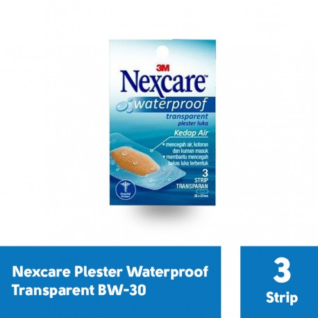 Plester Waterproof Transparent Nexcare BW-30 - 1 Pack