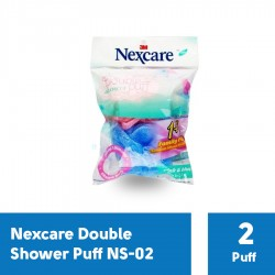 Spons Mandi Double Shower Puff Nexcare NS-02