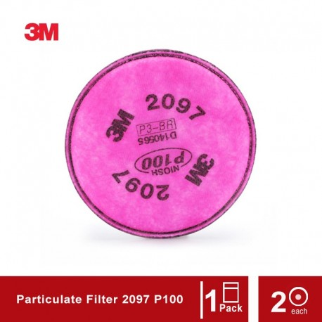 3M Particulate Filter 2097 P100 Respiratory Protection - 1 Bag [isi 2]