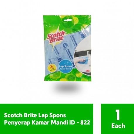 Scotch Brite Lap Spons Kamar Mandi (eceran) (ID-822) - Lap Sponges di Jual Murah Bisa dicuci di Mesin Cuci