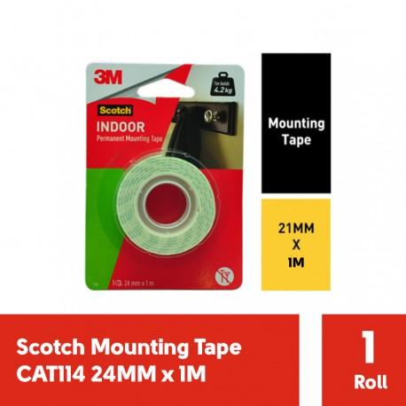 Scotch Mounting Tape CAT114 24m x 1m