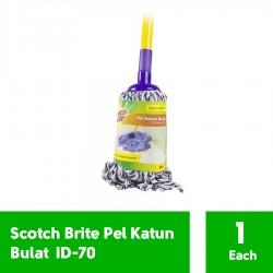 3M Scotch Brite Pel Katun Bulat Set (eceran) (ID-70) - Lap Pel Kain Katun u/ Membersihkan Lantai Jual dg Harga Murah