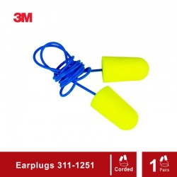 3M E-A-Rsoft Yellow Neons Earplugs 311-1251 - 1 Each