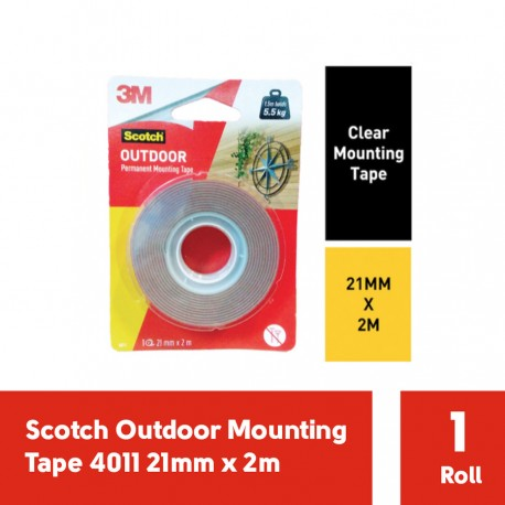3M Scotch Outdoor Mounting Tape 4011 21mm x 2m