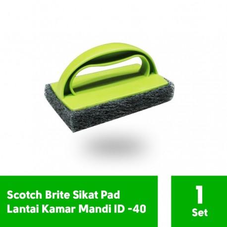 Sikat Lantai Pad ID-40 - Sikat 3m Scotch Brite Ber Gagang u/ Membersihkan Lantai di Jual dg Harga Murah