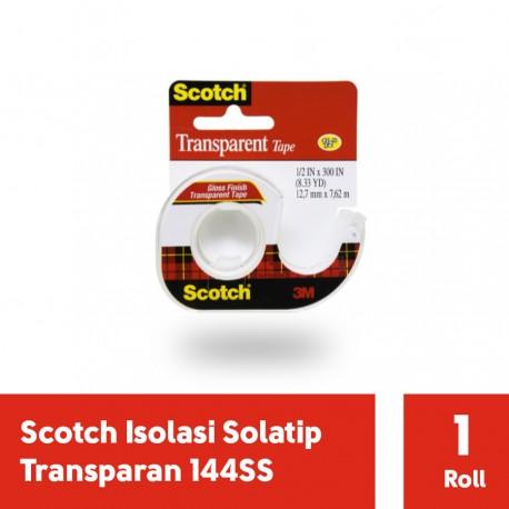 3M Isolasi Solatip Transparan - Scotch 144SS [12.7 mm x 7.62 m]