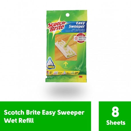 Scotch-Brite Easy Sweeper Wet Refill (isi 8 Sheets)