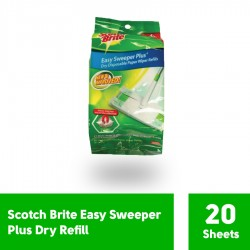 Scotch-Brite Easy Sweeper Dry Refill (isi 20 Sheets)