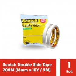 Double Tape 3M Scotch Double Side Tape 200M [18mm x 10Y / 9M]