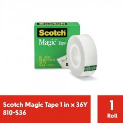 Magic Tape 1 in x 36Y 3M Scotch 810-S36 - Jual Isolasi Bening Kecil dg Harga Murah