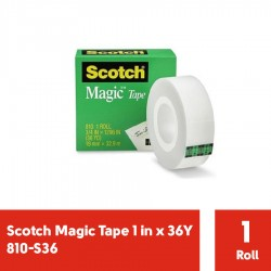 Magic Tape 1 in x 36Y 3M Scotch 810-S36 - Jual Isolasi Bening Kecil dg Harga Murah