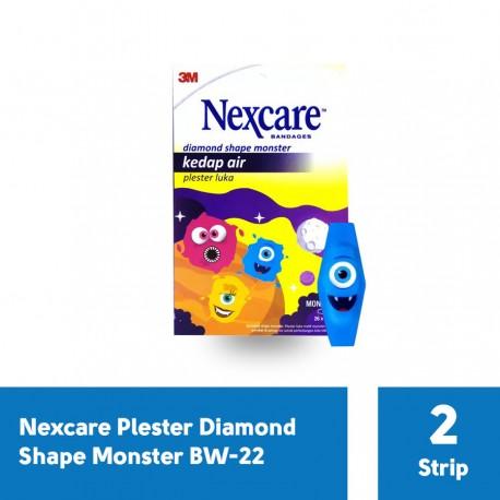 Plester Luka Waterproof Diamond Shape Monster Bandage Nexcare BW-22