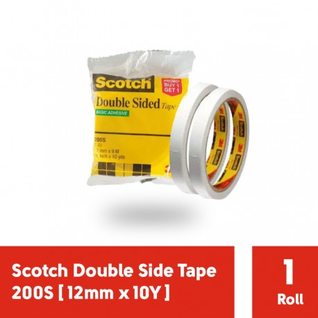 Double Tape 3M Scotch Double Side Tape 200S [12mm x 10Y]