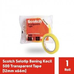 Selotip Lakban Bening Kecil Scotch 500 Transparent Tape [12mm x66m]