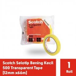 Selotip Lakban Bening Kecil Scotch 500 Transparent Tape [12mm x66m]