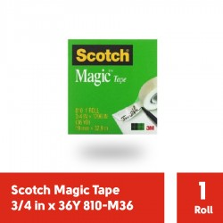 Magic Tape 3/4 in x 36Y 3M Scotch 810-M36 - Harga Isolasi Bening Kecil Paling Murah