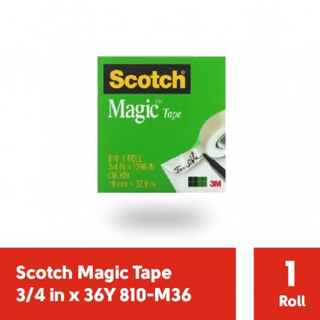 Magic Tape 3/4 in x 36Y 3M Scotch 810-M36 - Harga Isolasi Bening Kecil Paling Murah